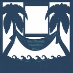 Custom Palm Tree Banner 12 x 12 Overlay Laser Die Cut