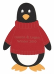 Custom Penguin with Sweater Laser Die Cut