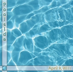 Custom Pool Water 12 x 12 Paper