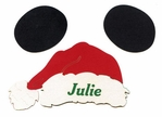 Custom Santa Hat With Ears Laser Die Cut