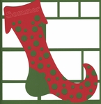 Custom Stocking 12 x 12 Overlay Laser Die Cut