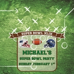 Custom Superbowl XLIX Party 12 x 12 Paper