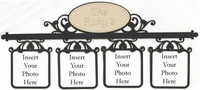 Custom Swirl Photo Frame Border Laser Die Cut