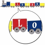 Custom Toy Train Border Laser Die Cut