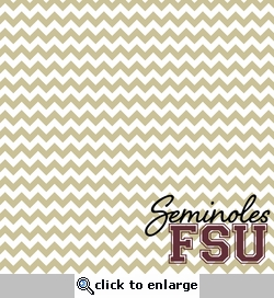 Custom University Chevron 12 x 12 Paper