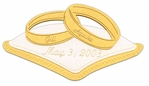 Custom Wedding Rings and Pillow Laser Die Cut