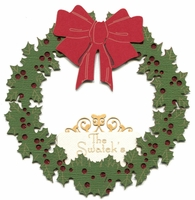 Custom Wreath Glitter Laser Die Cut
