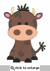 Cute Cow Laser Die Cut