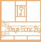 Days Gone By 12 x 12 Overlay Laser Die Cut