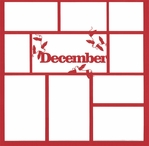 December 12 x 12 Overlay Laser Die Cut