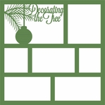 Decorating The Tree 12 x 12 Overlay Laser Die Cut