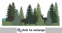 Deer And Tree Border Laser Die Cut