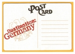 Destination: Germany Postcard Laser Die Cut