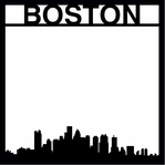 Destinations: Boston 12 x 12 Overlay Laser Die Cut