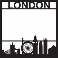 Destinations: London 12 x 12 Overlay Laser Die Cut