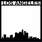 Destinations: Los Angeles 12 x 12 Overlay Laser Die Cut