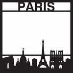 Destinations: Paris 12 x 12 Overlay Laser Die Cut