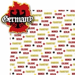Deutschland: Germany 2 Piece Laser Die Cut Kit
