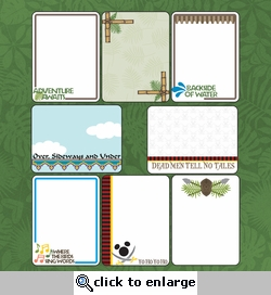 Digital Download: Adventure Land: Journaling Cards 12 x 12 Paper