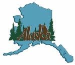 Digital Download: Alaska State Shape Laser Die Cut