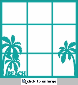 Digital Download: Beach 12 x 12  Photo Overlay Laser Die Cut