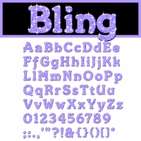 Digital Download: Bling: Purple Alpha Set