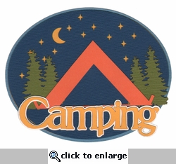 Digital Download: Camping Oval Laser Die Cut