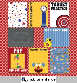 Digital Download: Carnival Fun!: 12 x 12 Journaling Cards