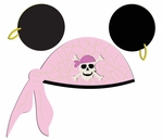 Digital Download: Character Pirate Hat Pink Laser Die Cut