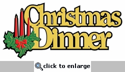 Digital Download: Christmas Dinner Laser Die Cut
