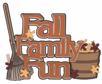 Digital Download: Fall Family Fun Laser Die Cut