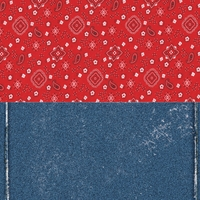Digital Download: Frontier Land: Halvsies Bandana and Denim 12 x 12 Paper