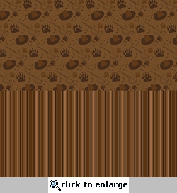 Digital Download: Frontier Land: Halvsies Bear Paw and Stripe 12 x 12 Paper