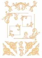 Digital Download: Golden Flourish Embellishment Pack