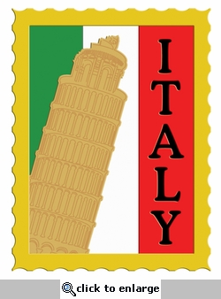 Digital Download: Italy Postage Stamp Laser Die Cut