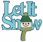 Digital Download: Let It Snow Laser Die Cut