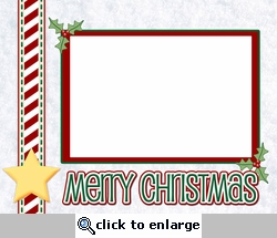 Digital Download: Merry Christmas Card Layout