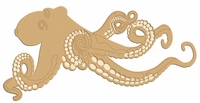 Digital Download: Octopus Laser Die Cut