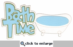 Digital Download: Oh Baby!: Bath Time Blue Die Cut