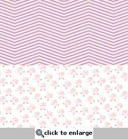 Digital Download: Oh Baby!: Pink Strollers and Chevrons 12 x 12 Paper