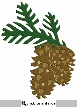 Digital Download: Pinecone Laser Die Cut