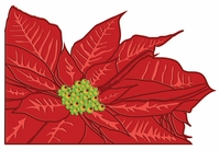 Digital Download: Poinsettia Page Corner Laser Die Cut