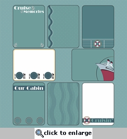 Digital Download: Ports of Call: Journaling Cards 12 x 12 Paper