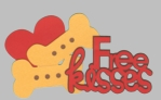 Digital Download: Puppy Love: Free Kisses Laser Die Cut