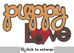 Digital Download: Puppy Love: Puppy Love Die Cut