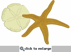 Digital Download: Sand Dollar and Starfish Laser Die Cut