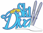 Digital Download: Ski Diva Laser Die Cut