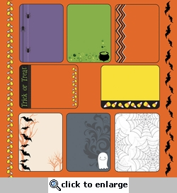 Digital Download: Spider Cider: 12 x 12 Journaling Cards