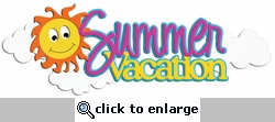 Digital Download: Summer Vacation Glitter Laser Die Cut