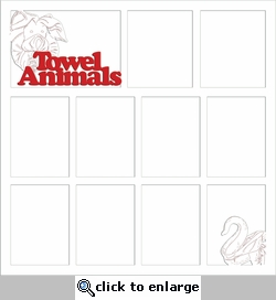 Digital Download: Towel Animals 12 x 12 Overlay Laser Die Cut